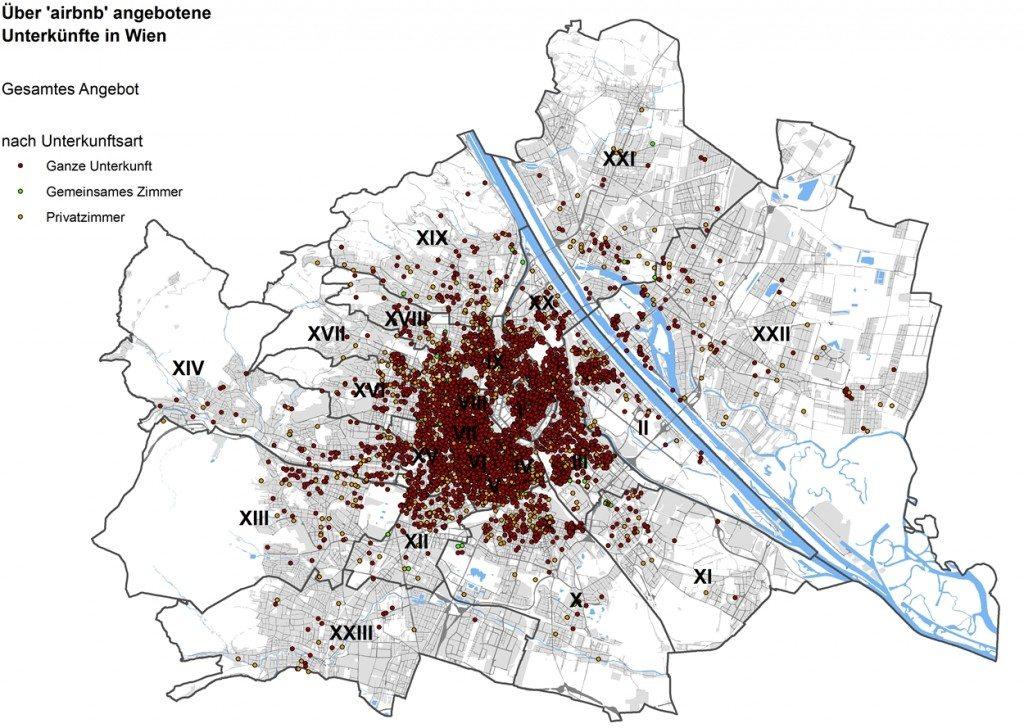 Share Economy, Wien, Zimmerangebot